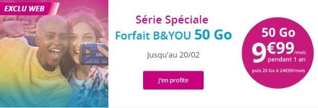 B&You 50 Go à 9,99€ pendant un an