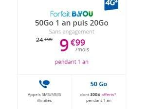 B&You: forfait 50 Go à petit prix