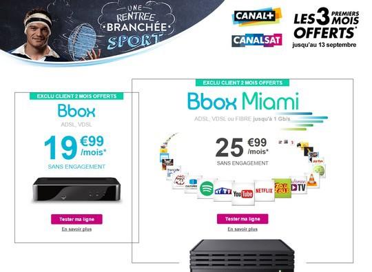 Bon plan bbox avec Canal+