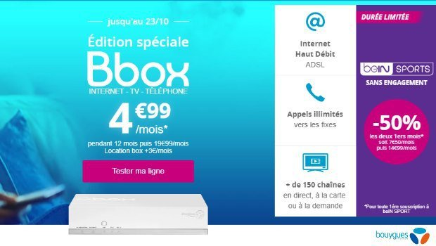 Bouygues Telecom : Internet + mobile en promotion