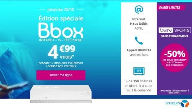 Bouygues Telecom : Internet + mobile en promotion