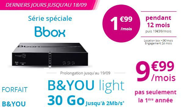 Forfaits B&You en promotion