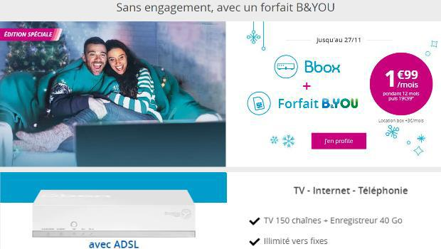 Bouygues : profitez des promos Internet ADSL + mobile B&You