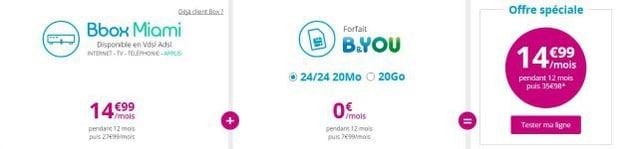Bouygues : Bbox Miami en promo