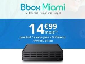 Bouygues : Bbox Miami fibre en promo