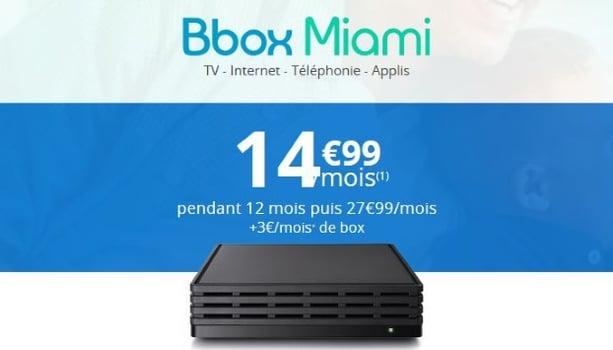 Internet Bouygues : Bbox Miami en promo