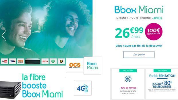 Augmentation des prix de la Bbox Miami lundi 11 avril 2016