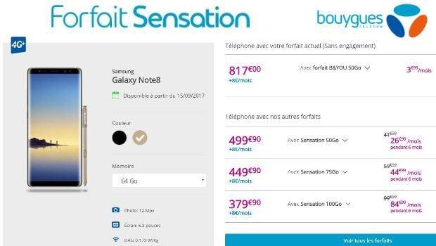 Les offres Sensation à 15€ pour les clients B&You