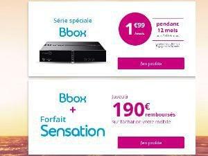 Bouygues : promo Bbox ADSL à 1,99€