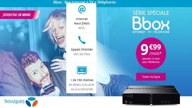 Série Spécial Bbox ADSL à 9,99€/mois