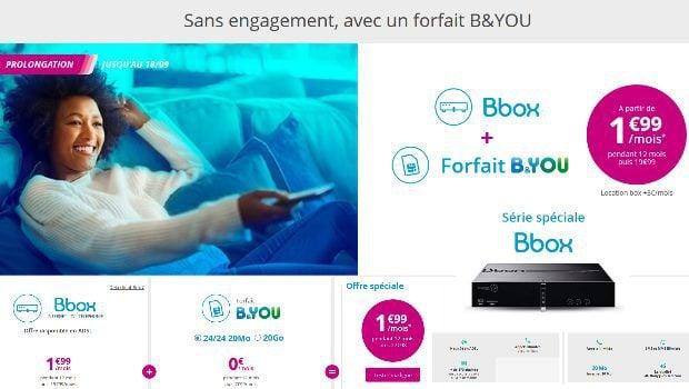 Bbox ADSL Série Spéciale + forfait B&You à 4,99€/mois