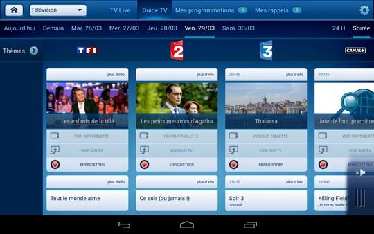 guide des programmes B.tv