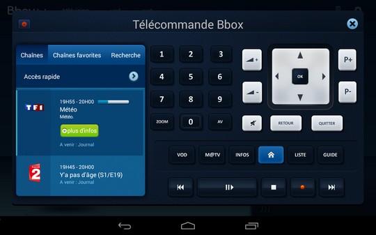 télécommande virtuel bbox tv mobile