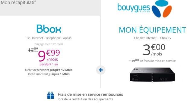 Série Spéciale Bbox ADSL à 9,99€/mois