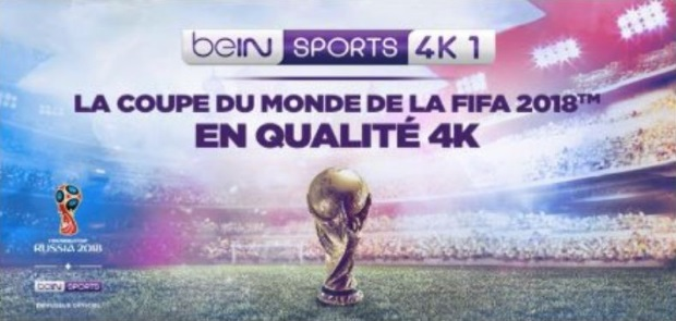 regarder le mondial 2018 en 4K sur BeIN Sports