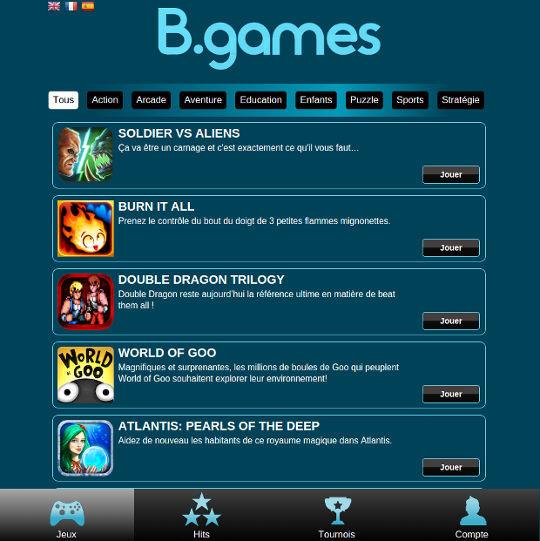 bgames jeux illimité par bouygues