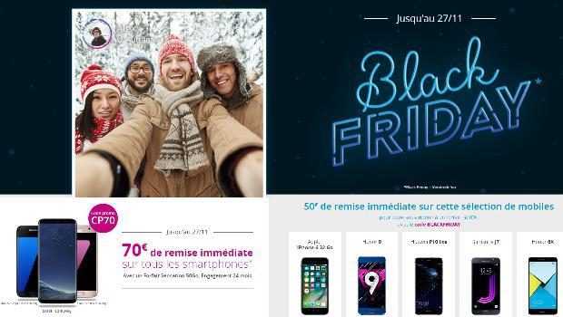 Promos sur les mobiles Black Friday