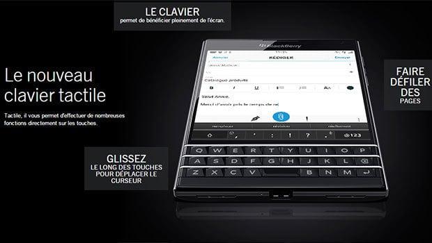 BlackBerry Passport avec son double-clavier, physique et tactile