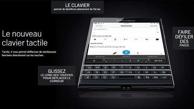 BlackBerry Passport avec son double-clavier, physique et tactile