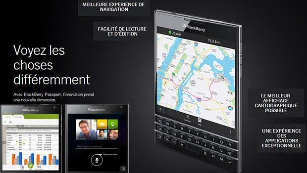 BlackBerry Passport plus 30% d'affichage par rapport à un Smartphone 'normal'