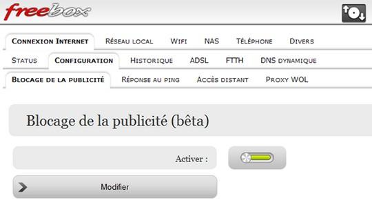 Blocage Publicité Freebox Révolution - Adgate