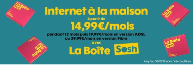 Internet sans engagement : la Boîte Sosh en promotion