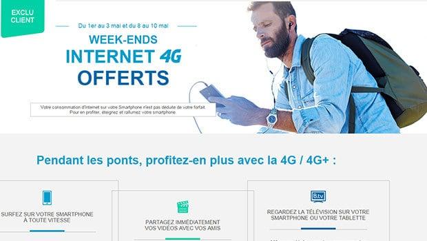 Bouygues Telecom et B&You, des weekends Data illimité en mai