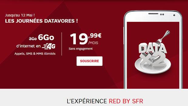 RED by SFR, le 3gO passe à 6Go
