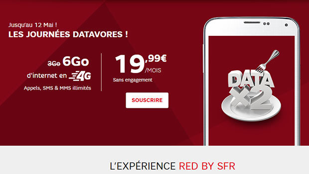 RED by SFR, le 3gO passe à 6Go
