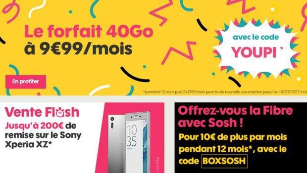 Sosh Mobile 40Go à 9,99€/mois