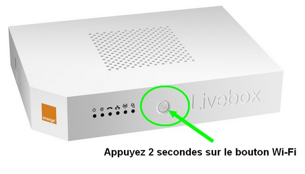 bouton wifi de la Livebox 2