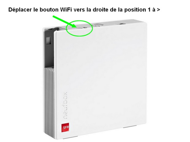 bouton wifi de la Neufbox 6