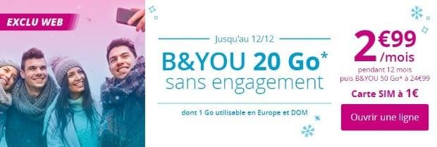 Bouygues : forfait data en promo