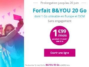 B&You 20Go à 1,99€/mois