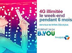 bouygues 4G illimitée week-end