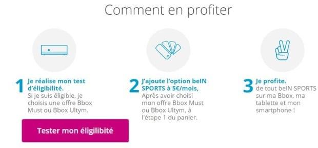 BeIN Sport pas cher avec Bouygues