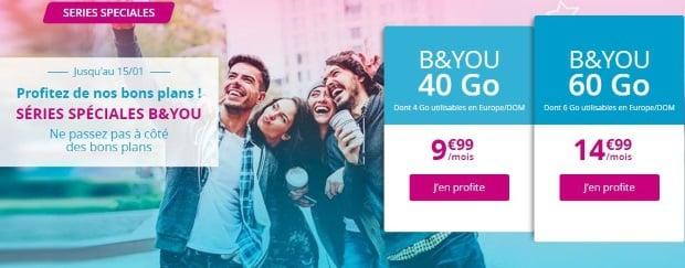 Bouygues Telecom : Forfait pas cher à 10 euros pour 40Go ou 15€ pour 60Go