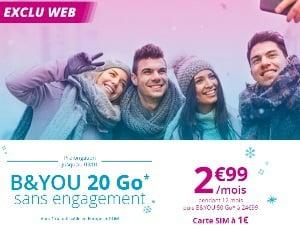 B&You 20Go à 2,99€/mois