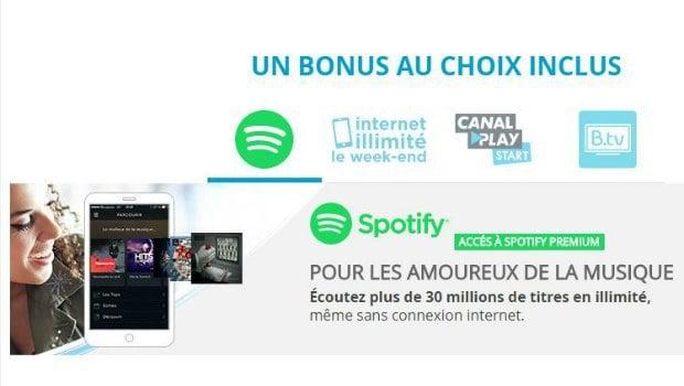Spotify Premium inclus avec le forfait Bouygues Sensation 5 Go