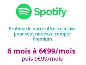 Spotify en promoition avec les forfaits Bouygues