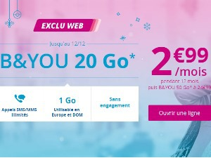 B&You 20Go à 2,99€/mois pendant 1 an