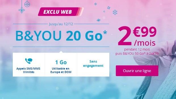 B&You en promotion à 2,99€/mois pendant un an