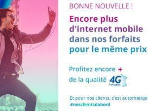 Bouygues Telecom booste la data de ses forfaits Sensation B&YOU 3Go et +