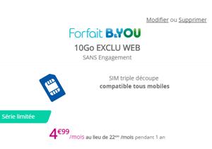 B&You 10 Go : le forfait data pas cher de Bouygues