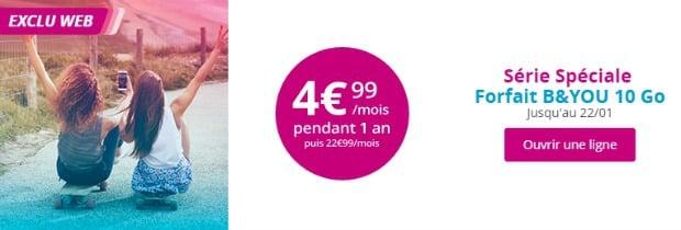 B&You : forfait 10 Go à moins de 5€