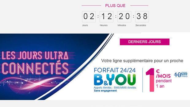 Le forfait B&You à 1 euro