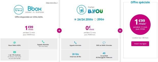 Box + mobile pas cher chez Bouygues