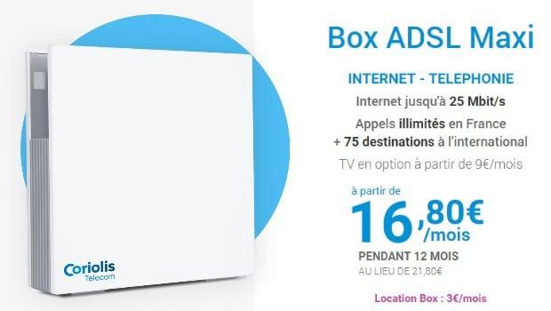 Coriolis Box Maxi en 2P, à partir de 19,80€/mois