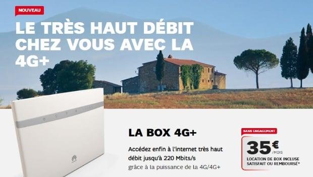 La nouvelle box 4G+ de SFR à 35 euros/mois