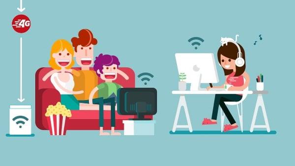 Profitez d'Internet dans votre salon et partout dans le foyer